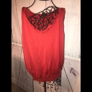 Lane Bryant blouse 18/20 wine color